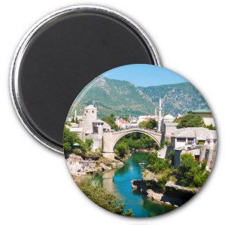 Été à Mostar Magnet Rond 8 Cm