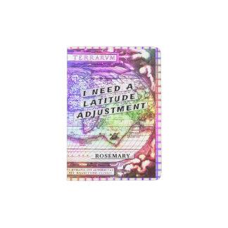 Été antique coloré de carte d'ajustement de protège-passeport
