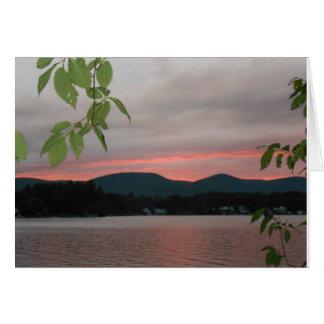 Été au coucher du soleil dans le Berkshires Carte