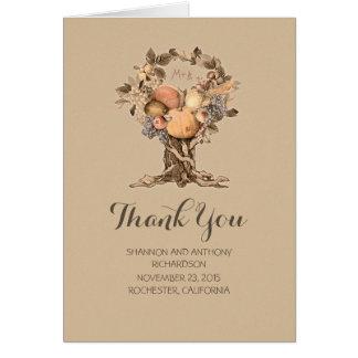 été - carte de remerciements de mariage de récolte