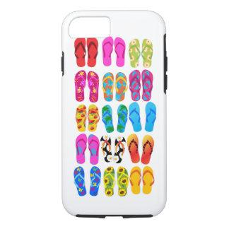 Été coloré de thème de plage d'amusement de coque iPhone 7