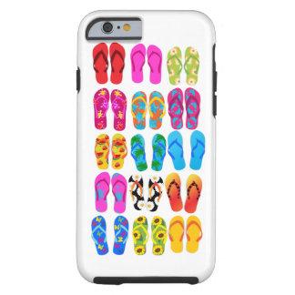Été coloré de thème de plage d'amusement de coque tough iPhone 6