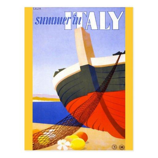 Été en Italie Carte Postale