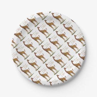 Êtes-vous eus une girafe ? assiettes en papier