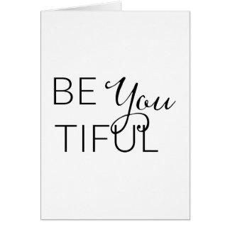Êtes vous Tiful - carte inspirée