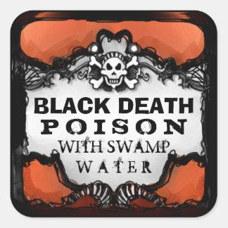 Etiketten van de Drank van Halloween de Oranje & Vierkante Sticker