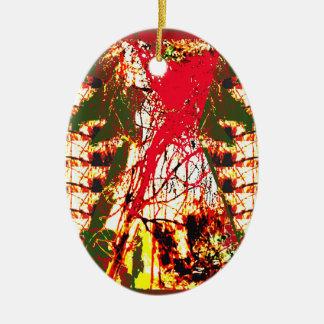 Étincelle colorée d'abrégé sur ornement de Noël