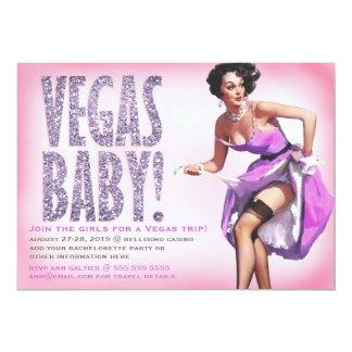 Étincelle de pin-up de fille de bébé de 311 Vegas Carton D'invitation 12,7 Cm X 17,78 Cm