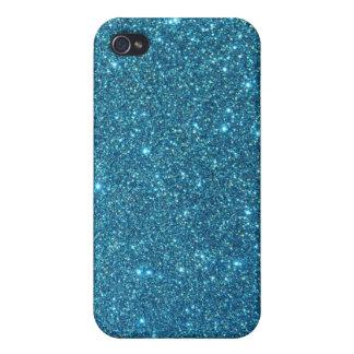Étincelles bleues mignonnes de scintillement étui iPhone 4/4S