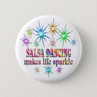 Étincelles de danse de Salsa Badge Rond 5 Cm