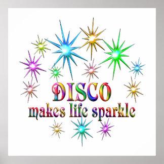Étincelles de disco poster