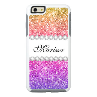 Étincelles pourpres roses fraîches mignonnes de coque OtterBox iPhone 6 et 6s plus