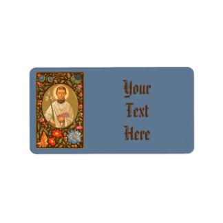 Étiquette #3b de St Aloysius Gonzaga (P.M. 01)