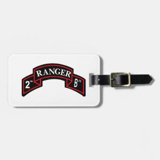 Étiquette À Bagage 2nd Ranger Battalion - 2ème bataillon de Ranger