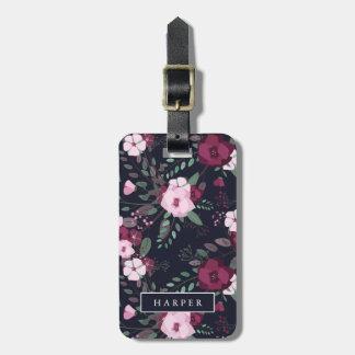 Étiquette À Bagage Adresse nommée faite sur commande de rose et de