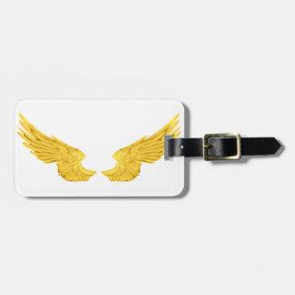 Étiquette À Bagage Ailes d'or d'ange de Falln