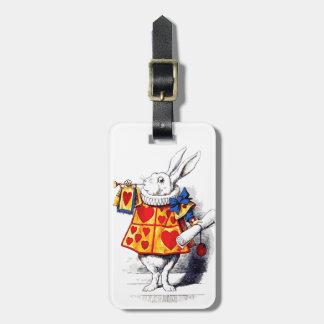 Étiquette À Bagage Alice au pays des merveilles le lapin blanc par