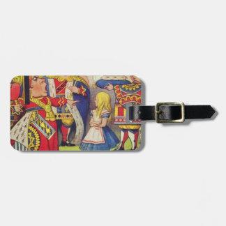 Étiquette À Bagage Alice et la reine des coeurs