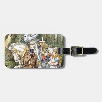 Étiquette À Bagage Alice et le chevalier blanc