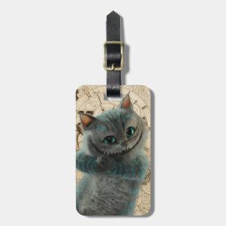 Étiquette À Bagage Alice par la grimace de chat du psyché | Cheshire