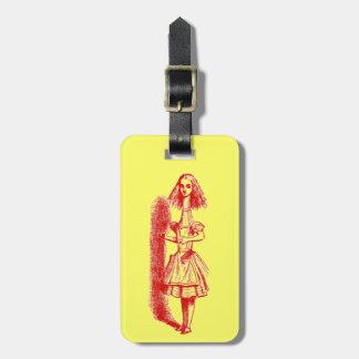 Étiquette À Bagage Alice vintage au pays des merveilles