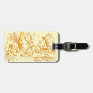 Étiquette À Bagage Alice vintage au thé du pays des merveilles