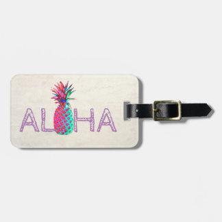 Étiquette À Bagage Aloha Hawaïen adorable Ananas-Personnalisé