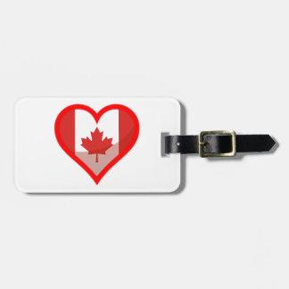 Étiquette À Bagage Amour du Canada