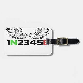 Étiquette À Bagage ange 1N23456