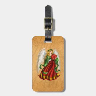 Étiquette À Bagage Ange traditionnel de Noël
