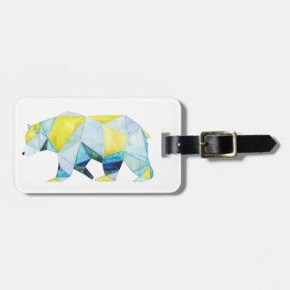 Étiquette À Bagage Animal géométrique d'ours