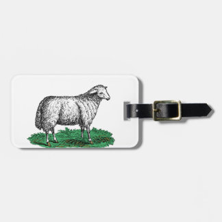 Étiquette À Bagage Animaux de ferme vintages de brebis de moutons