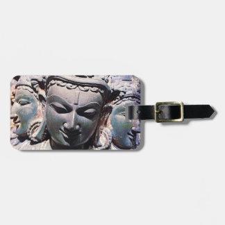 Étiquette À Bagage Antiquité asiatique, photo en pierre découpée de