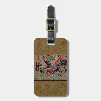 Étiquette À Bagage Antiquité chinoise vintage de graphique