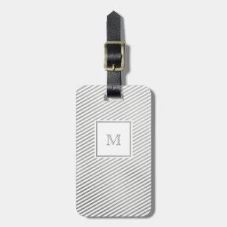 Étiquette À Bagage Argent et étiquette rayée blanche de bagage