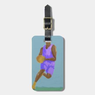 Étiquette À Bagage Art de basket-ball
