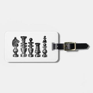 Étiquette À Bagage Art de cru de pièces d'échecs