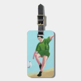 Étiquette À Bagage Art de mouvement du football