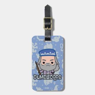 Étiquette À Bagage Art de personnage de dessin animé de Dumbledore