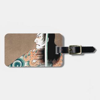 Étiquette À Bagage Art samouraï légendaire japonais classique de