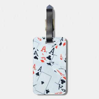 Étiquette À Bagage As dans un motif posé de cartes de tisonnier,