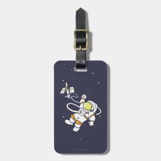 Étiquette À Bagage Astronaute