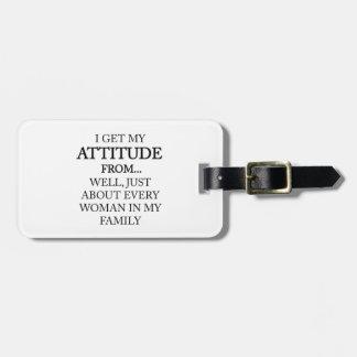 Étiquette À Bagage Attitude de famille