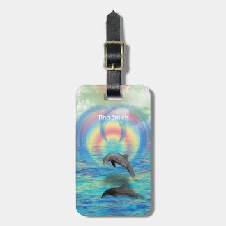 Étiquette À Bagage Augmentation de dauphin