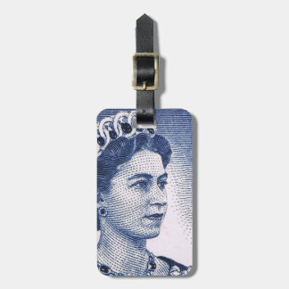 Étiquette À Bagage Australienne vintage de la Reine Elizabeth