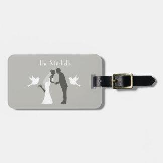 Étiquette À Bagage Aventure de lune de miel de couples de mariage