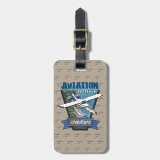 Étiquette À Bagage Aventure d'hydravion d'aviation