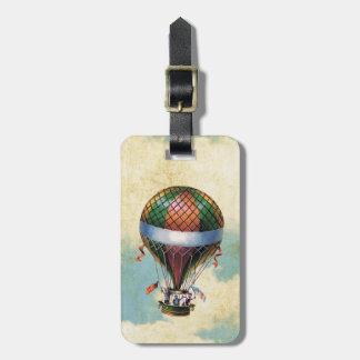 Étiquette À Bagage Ballon à air chaud coloré vintage