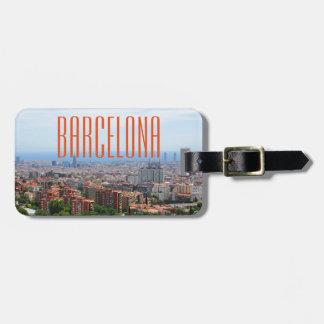 Étiquette À Bagage Barcelone
