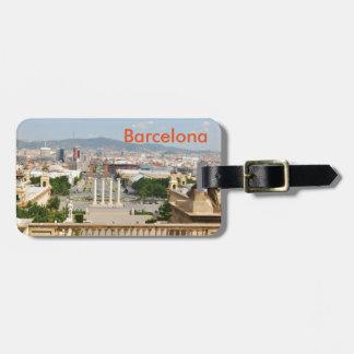 Étiquette À Bagage Barcelone, Espagne
